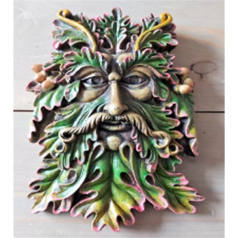 Green Man Face Ornament